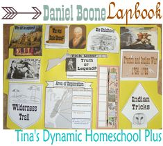 Daniel Boone - North American Explorer - free lapbook printables - from tina's dynamic homeschool