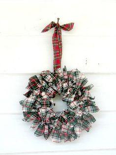 Stewart Dress tartan plaid Rag Wreath by heatherknitz, via Flickr