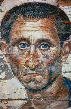 Portrait d'homme. Époque romaine. Fayoum.