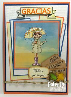 "Patsy's Scrapbooking: Blog hop: ""Gracias"" con Latina Crafter !!! Vintage Banner, Magnolias, Latina, Blog, Scrapbooking, Serif, Highlights, Girls, Projects"
