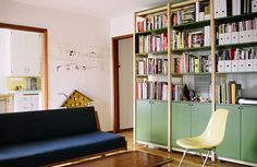 $3000 bookshelves featured in the latest Sunset. (WAY out of our price range but WAY coolio toolio)