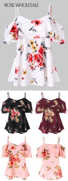 Womens fashion for summer casual floral tops 19 ideas Summer Outfits Women, Trendy Outfits, Cool Outfits, Fashion Outfits, Fashion Clothes, Ladies Fashion, Women Fashion Casual, Woman Fashion, Fashion Ideas
