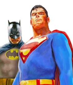 Original Comic Art titled Batman and Superman by Mark Spears, located in Mark's Painted Art Comic Art Gallery Arte Dc Comics, Dc Comics Superheroes, Bd Comics, Batman Comics, Dc Heroes, Comic Book Heroes, Comic Books Art, Comic Movies, Univers Dc