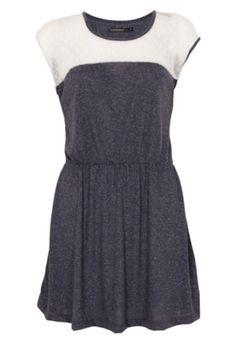 Vestido Recorte Azul