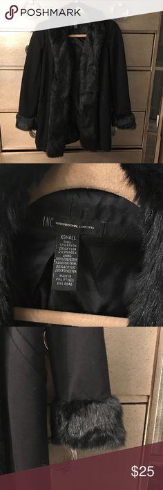 INC Blazer/Coat with fur trim Black INC blazer coat with fur trim INC Jackets & Coats Blazers