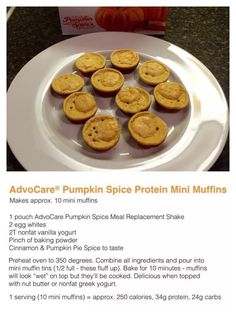 Meal replacement shake muffins