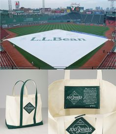@GSD helped with this. Love it.//Own a piece of L.L.Bean and baseball history - the Fenway Boat & Tote - available June 12 at 9AM 800-554-4072 - only 2,012 made (in Maine) $59.95