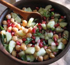 Cucumber-Pomegranate Salad Recipe: Cucumber-Pomegranate Salad  (c) 2007 Lisa Sierra Licensed to About.com