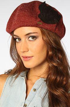 I need cute hates to survive the Minnesota Winter.    The Monet Hat in Burgundy and Black by deLux