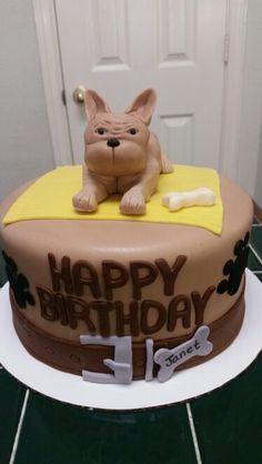 Amy's Crazy Cake - Frenchie Bulldog Cake