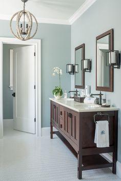 Innovative kohler medicine cabinets in Bathroom Craftsman with Bronze Faucet next to Bathroom Colors alongside Benjamin Moore Mount Saint Anne and Master Bath Vanity