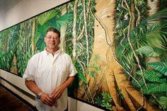 César Bertel, pintor colombiano Para saber más sobre personas que marcan la diferencia sostenible visita www.solerplanet.com Painters, Fine Art, Jungles, June, Cartagena, Water Colors, People, Art, Visual Arts