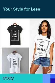 049aac2ea79 Summer Short Sleeve No One Cares letter print t-shirt Loose letter print  tshirt