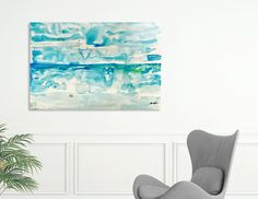 Discover «Miami Beach Watercolor #2», Limited Edition Acrylic Glass Print by @anoellejay Alicia Jones - From $99 - @Curioos