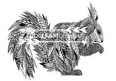 Download Print  PDF Squirrel Print  Nordic Squirrel  Nordic Black And White Drawing, Squirrel, Graphic Art, Lion Sculpture, Pdf, Statue, Trending Outfits, Drawings, Unique Jewelry