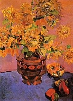 """Paul Gauguin Spicy Autumn"" Very Van Gogh like. Paul Gauguin, Henri Matisse, Renoir, Impressionist Artists, Paintings I Love, Pablo Picasso, Tahiti, Monet, Painting & Drawing"