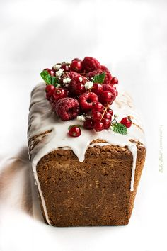 Strawberry and Redcurrant Loaf Cake. | Bake-Street