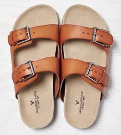 Tan AEO Double Strap Sandal