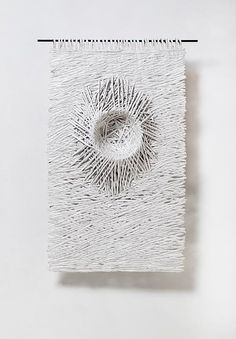 """Displacement Series"" – Nesting 1 Size: Technique: hand-torn paper, white acrylic, konjac Size: x --- Gallery 2016 - Bianca Severijns Paper Artist Paper Birds, Torn Paper, Paper Artist, Paper Jewelry, Paper Texture, Book Making, Textile Art, Paper Cutting, Sculpture Art"