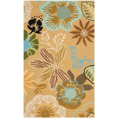 Four Seasons Taupe/Multi (Brown/Multi) 2 ft. 6 in. x 4 ft. Indoor/Outdoor Rectangle Area Rug
