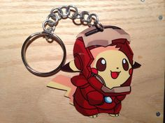 Sale Ironman Pikachu Keychain by LCMetalArt on Etsy
