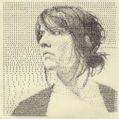 Textual Portraits by Leslie Nichols – Fubiz Media