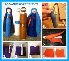 These Biblical wooden peg people were inspired by my love for all things Montessori as well as the beauty of Godly Play. Baby Bible, Godly Play, Preschool Bible, Bible Lessons For Kids, The Good Shepherd, Sunday School Crafts, Bible Crafts, Wooden Pegs, Kids Church