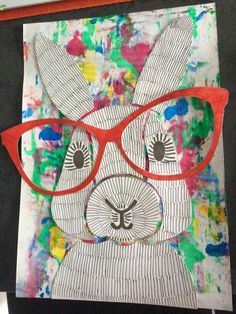 April Art Projects For Kids Easter Bunny 54 Ideas School Art Projects, Projects For Kids, Crafts For Kids, Arts And Crafts, Easter Art, Easter Crafts, Easter Bunny, Lapin Art, Rabbit Art