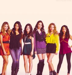 The cast from Pretty Little Liars -only the girls here-