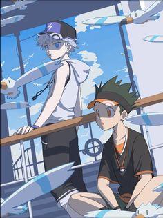 Anime: Hunter x Hunter Anime Naruto, Manga Anime, Anime In, Girls Anime, Fanarts Anime, Cute Anime Guys, Haikyuu Anime, Killua, Hisoka