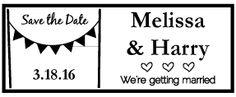 Summer Wedding Save The Date Horizontal Stamp