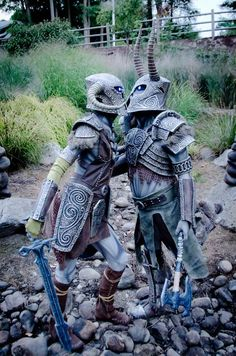 This Skyrim draugr deathlord couples cosplay by Punished Props is basically the coolest thing I've ever seen. And look how cute they are!