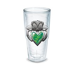 Claddagh Ring 24oz Tervis with Dark Green lid