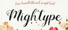 43 great free handwriting fonts  Handwriting fonts are more popular than ever – here are 43 you can own for free........ Mightype