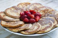 Fruit Recipes, Dessert Recipes, Desserts, Food N, Food And Drink, Danish Food, Pancakes And Waffles, Cakes And More, Kids Meals