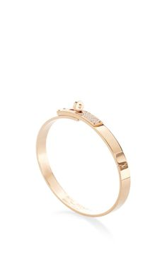 Hermes Kelly H Pm 18K Rose Gold Diamond Bangle by Portero - Moda Operandi