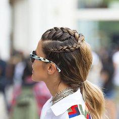 Cute French Braids Ponytail