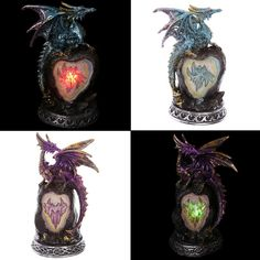 Crystal Rock Collectable LED Dragon Figurine Our fantasy and gothic dragon range…