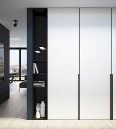 Best Modern Closet Design, For you fashion lovers and the latest clothing collection, the closet is a favorite furniture that is certainly needed at home. Of course, the cabinet is not only for clo… Wardrobe Doors, Wardrobe Closet, Built In Wardrobe, Wardrobe Cabinets, Wardrobe Storage, White Wardrobe, Minimal Wardrobe, Wardrobe Ideas, Modern Wardrobe