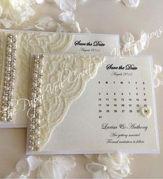 Items similar to Glitz and Glamour Vintage Lace Collection 2 - White, Ivory & Cream - Couture Wedding Invitation on Etsy Handmade Wedding Invitations, Wedding Invitation Cards, Wedding Stationery, Wedding Cards, Party Invitations, Trendy Wedding, Diy Wedding, Wedding Day, Glitz Wedding