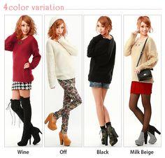 dreamv | Rakuten Global Market: Volume volume adjustable sleeve sleeve design point roughly knit pullover P all NM ed.