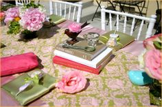 vintage chic baby shower, or girl bday party