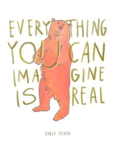 Picasso Everything You Can Imagine Is Real by emilymcdowelldraws, $20.00