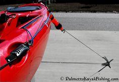 Palmetto Kayak Fishing: DIY No Drill Kayak Anchor Trolley Connection Points Kayak Fishing Tips, Kayaking Tips, Kayak Camping, Canoe And Kayak, Best Fishing, Camping Tips, Canoe Trip, Kayaks, Hobie Kayak