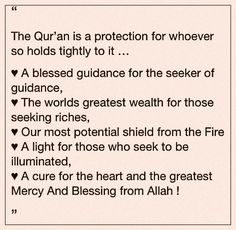 Quran is The Only Protection