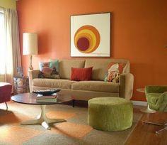 Pared en color naranja  Orange wall