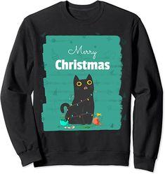 Amazon.co.jp: Meowy Cat アグリークリスマスセーター トレーナー : Clothing & Accessories