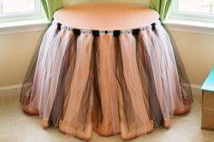 DIY Tulle Table Skirt