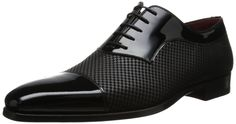 Magnanni Men's Tristan Tuxedo Oxford, Black - These shoes are badass