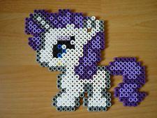Bügelperlen Figur, My little Pony, Rarity, Hama-Bügelperlen, Geschenk